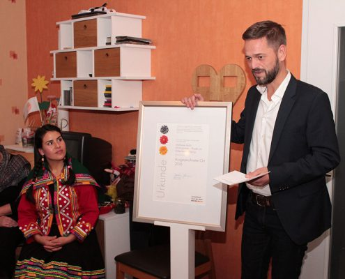 Marc Brinkhoff hält die Laudatio © Ida Dreier