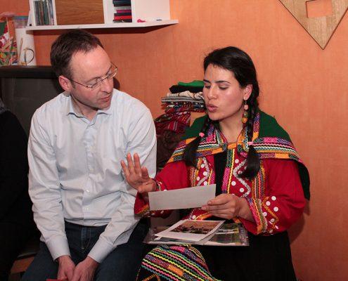 Bürgermeister Theo Mettenborg und Margarita © Ida Dreier