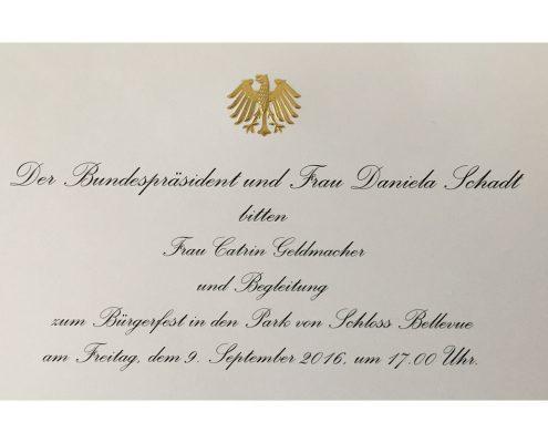 Einladung Bundespräsident